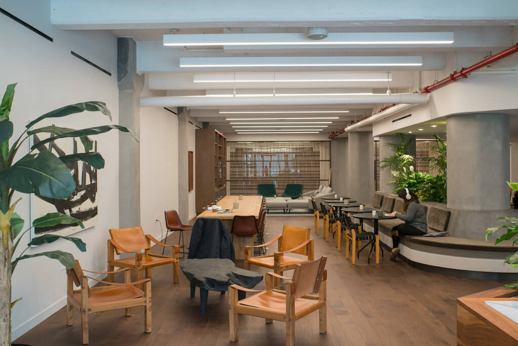 The coworking space in Austin Nichols is available for residents only. Source: New York Times