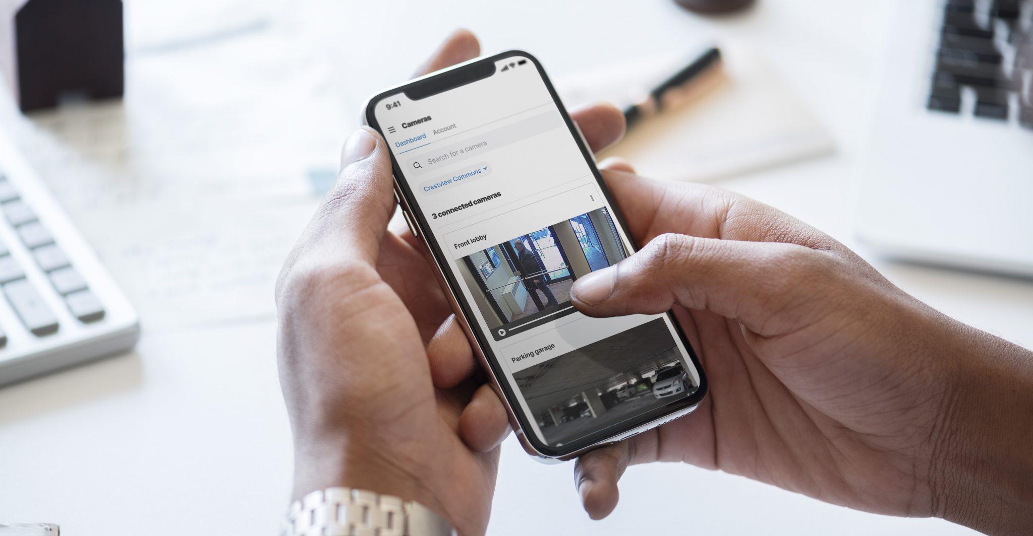 Eagle Eye in Homebase app on a phone.