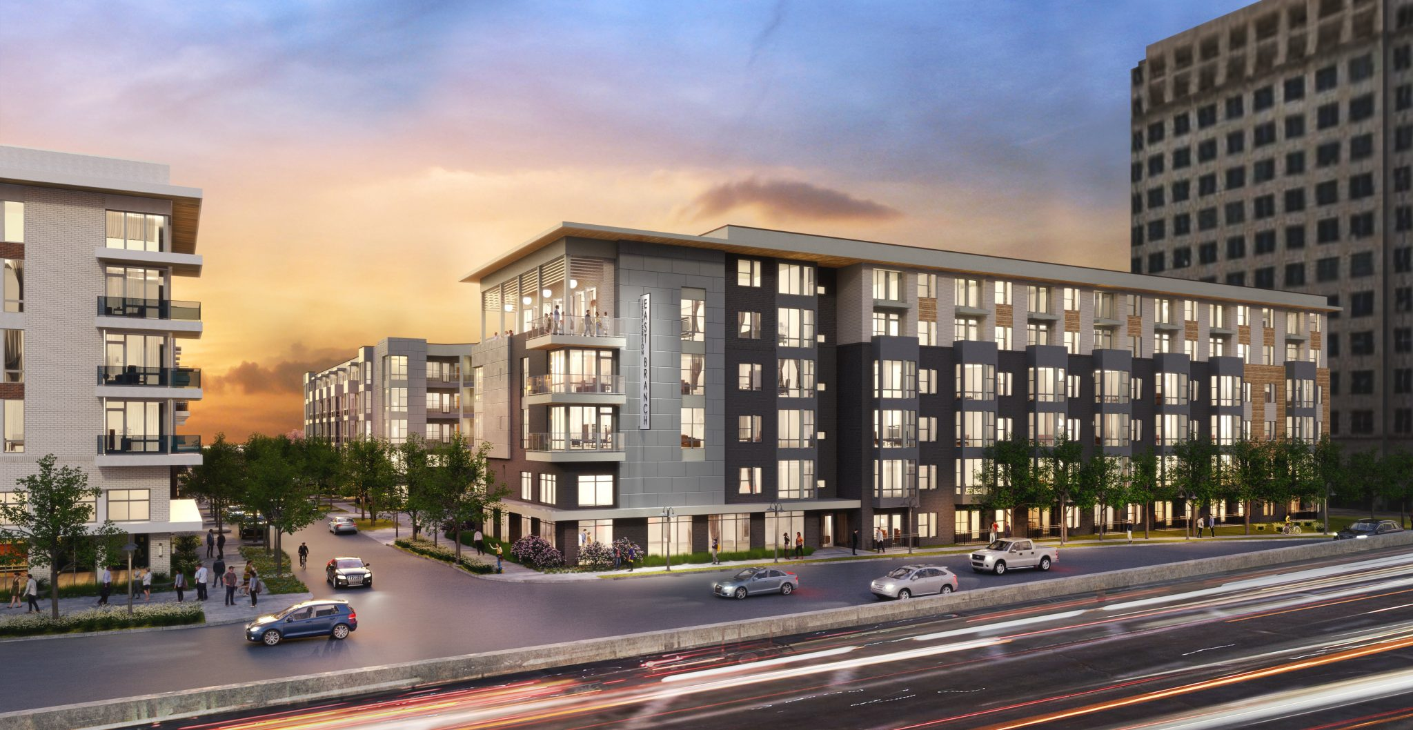 The Jefferson East Branch: a proposed 390-unit community in the north Dallas suburb of Farmers Branch. Source: REJournals