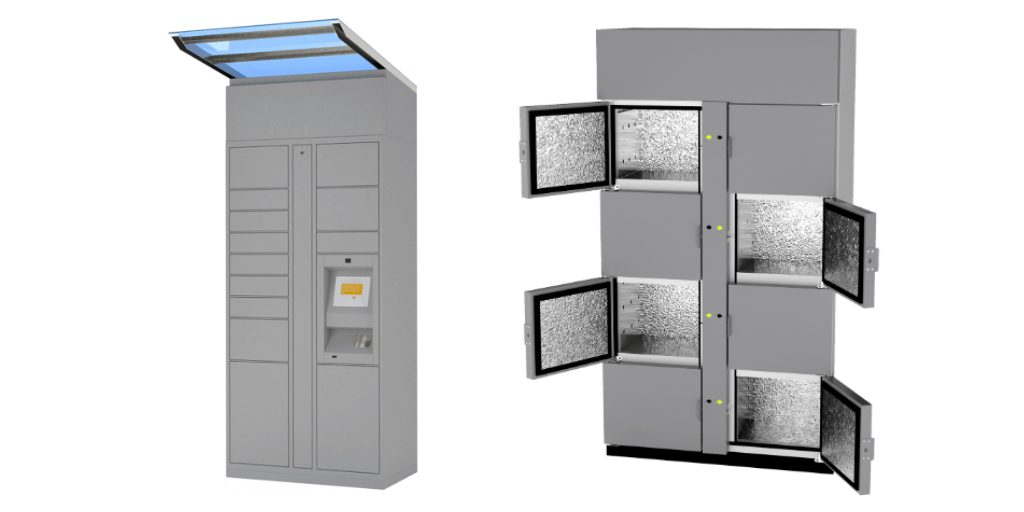 outdoor and refrigeration smart lockers