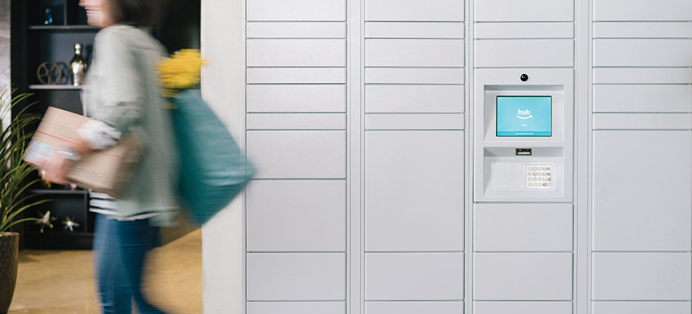 Amazon Hub smart package lockers_ homebase
