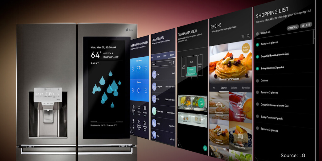 lg smart appliances homebase